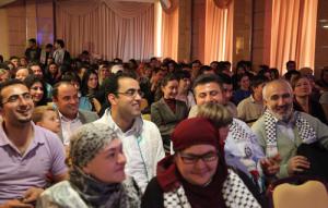 На концерт пришло много людей, которые неравнодушно относятся к Палестине