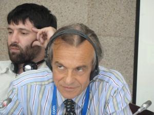 Председатель правления итальянской некоммерческой организации ASSAIF Альберто Бруньони, руководитель филиала фонда «Солидарность» в Дагестане Тимур Гаджижараев